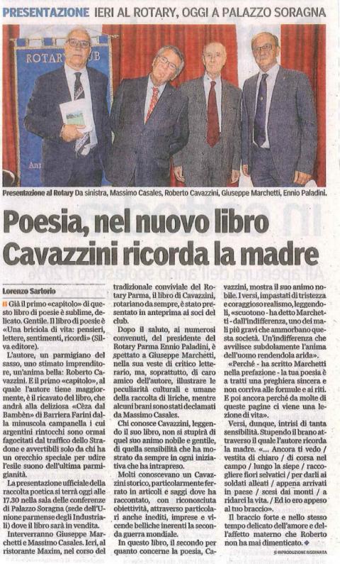 Presentazione del libro di poesie di Roberto Cavazzini
