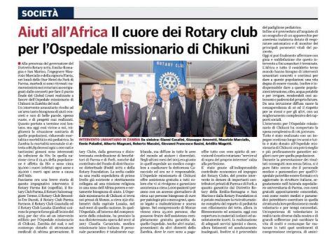 Conclusione Global Grant Ospedale di CHIKUNI ; Relatore Paolo BOTTI – Martedì 20 Febbraio 2018