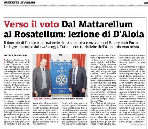 """""""Verso il Voto. Con quali Regole"""" – Relatore Antonio D'ALOIA – Giovedì 1 Marzo 2018"""