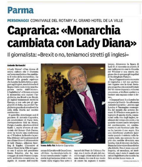 Incontro con il giornalista Antonio Caprarica – 11 ottobre