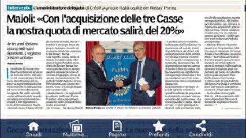 Incontro con dott. Giampiero Maioli A. D. di Credit Agricole Italia