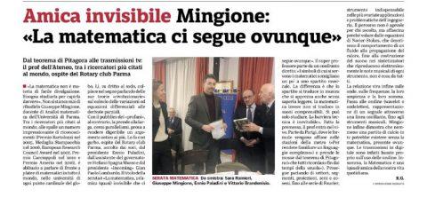 """""""La Matematica, un'amica (quasi) invisibile che ci segue ovunque."""" – Incontro con il Prof. Giuseppe MINGIONE del 28 Marzo 2018"""