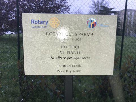 """""""Un Albero per ogni Rotariano"""" – Incontro di Mercoledì 11 Aprile."""