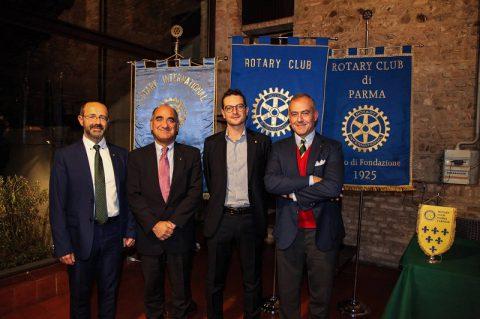 Inter-Club con Rotary Farnese e Rotary Parma Est – Incontro con l'Assessore alla Cultura del Comune di Parma Prof. Michele Guerra – Lunedì 8 Ottobre 2018