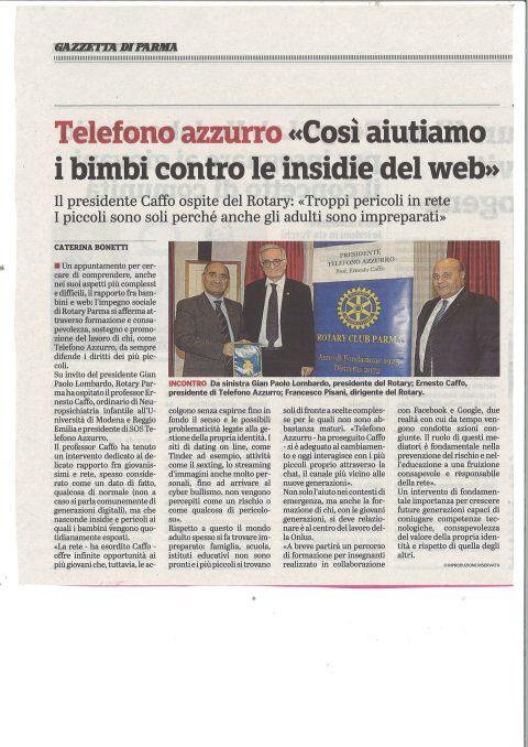 Incontro con il Prof. Ernesto Caffo – Presidente di Telefono Azzurro – Mercoledì 24 Ottobre 2018
