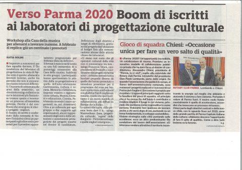 """Incontro con Alessandro CHIESI – Presidente di """"Parma io ci sto!"""" – Mercoledì 16 Gennaio 2019"""