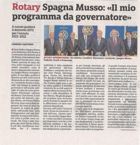 Interclub con relazione del nostro socio Stefano Spagna Musso, Governatore designato 2021-2022. – Mercoledì 15 Maggio 2019