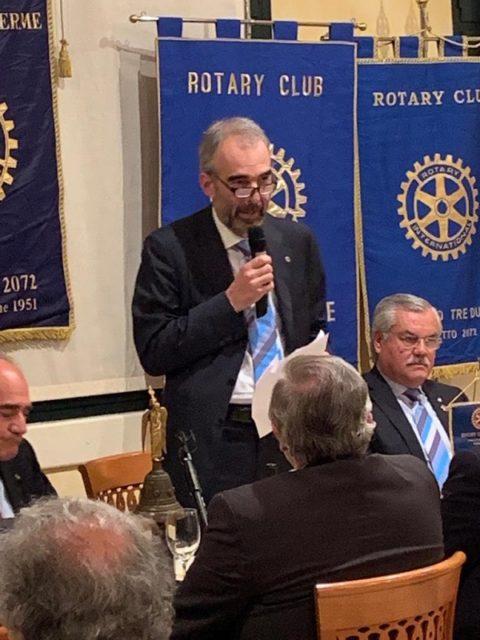 Interclub con relazione del nostro socio Stefano Spagna Musso, Governatore designato 2021-2022 – Mercoledì 15 Maggio 2019