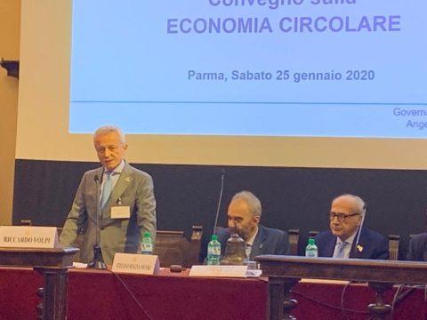 Convegno Distrettuale sull'Economia Circolare- Intervento inaugurale del nostro presidente Riccardo VOLPI – Parma 25 Gennaio 2020.