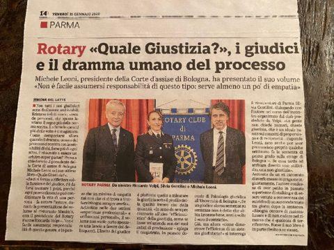 Conversazione con il dott. Michele LEONI – Gazzetta di Parma del 31 Gennaio 2020