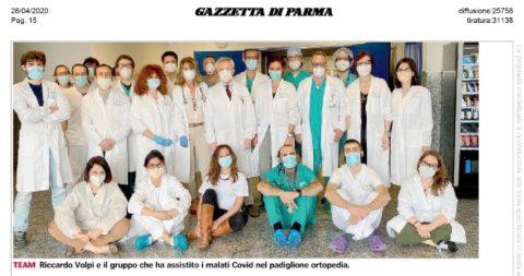 """Padiglione Covid 2 Volpi: """"Team formidabile: competenza e cuore"""""""